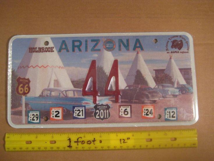 License Plate, Arizona, Holbrook Teepee Motel, Route 66, ALPCA Plate, Old Cars