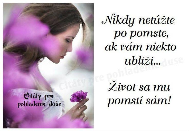 Nikdy nebažte po pomstě, když vám někdo ublíží...Život se mu pomstí sám!