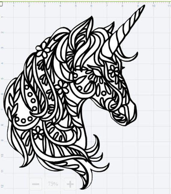 Mandala Unicorn Design SVG EPS DXF Studio 3 Cut File