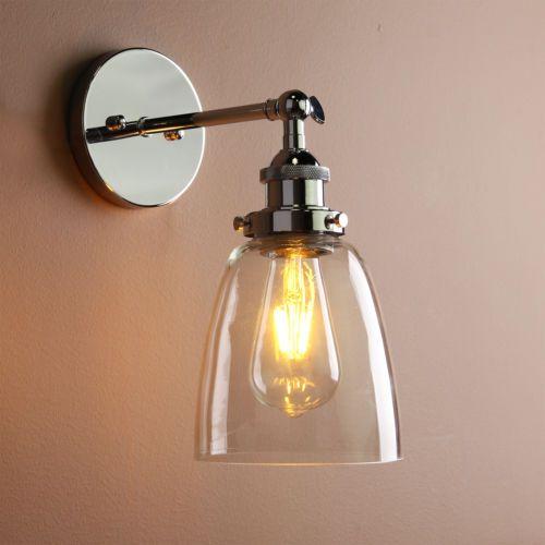 Adjustable-Industrial-Vintage-Chrome-Loft-Cafe-Glass-Retro-Wall-Light-Wall-Lamp