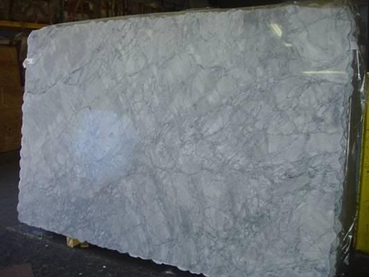 White Vermont Super White Granite Countertop.