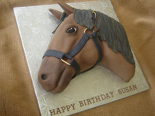 Horse cake by springlakecake, via Flickr