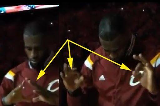 LeBron James illuminati satanic hand signs