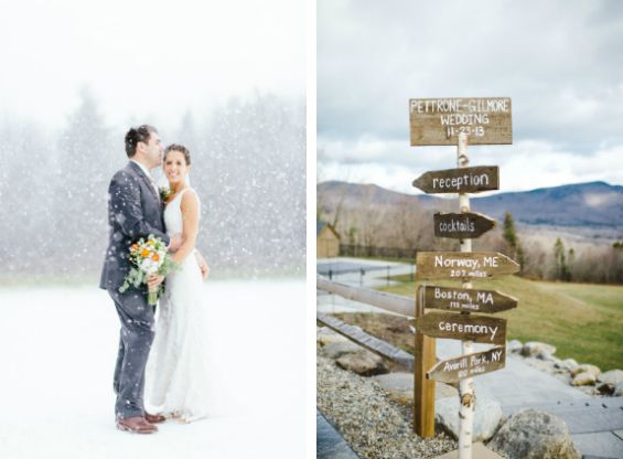 We're suckers for a snowy wedding, especially now that we're in the midst of the holidays!   Photos by Cambria Grace Photography via Style Me Pretty.