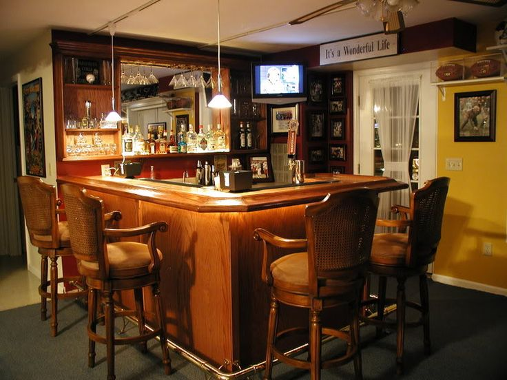 Home bars mancave basement etc the garage journal for Garage bar designs