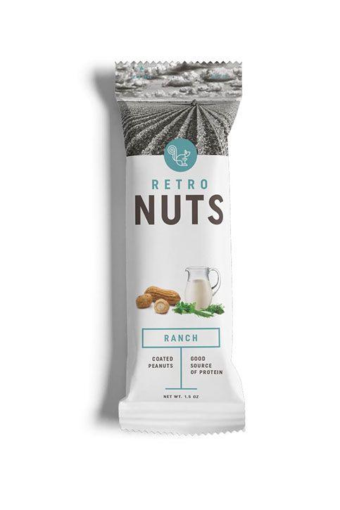 test monki, retro nuts, packaging design, food packaging design, branding, brand identity, graphic design, nuts packaging