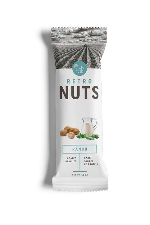 test monki, retro nuts, packaging design, food packaging design, branding, brand identity, graphic design, nuts packaging
