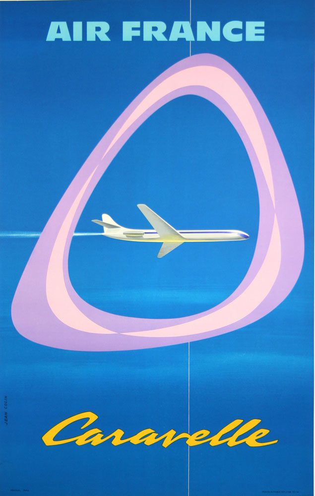Air France Caravelle. www.galerie-graglia-others.com