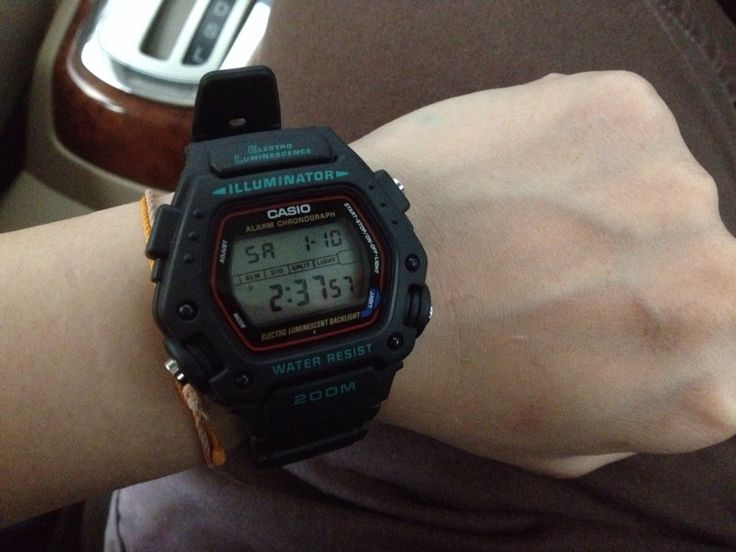 Casio DW-290 watch for my scuba diving trips Mission ...