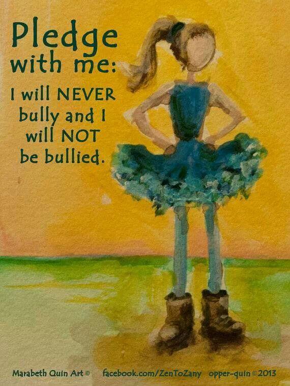 <<<– Pledge against bullying –>>>