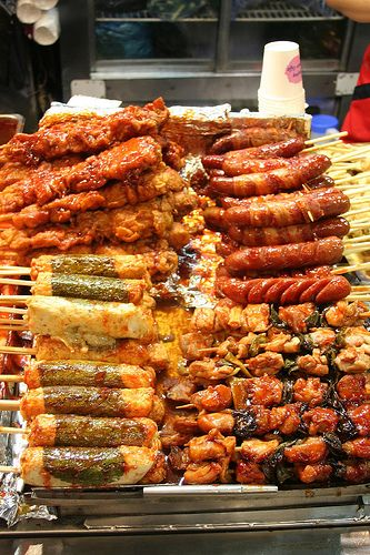 Korean Street Food ...ahhhh i wish i'm actually stuffing all of these in my mouth right now!