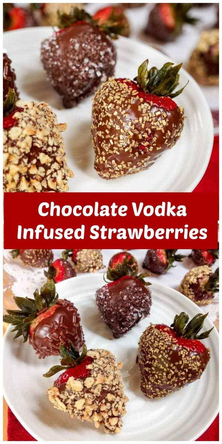 Chocolate Vodka Infused Strawberries is an appetizer that will get the party started. They are just as pretty to look at as they are delicious to eat! #appetizer #PartyFood | Easy Party Food via @HostessAtHeart