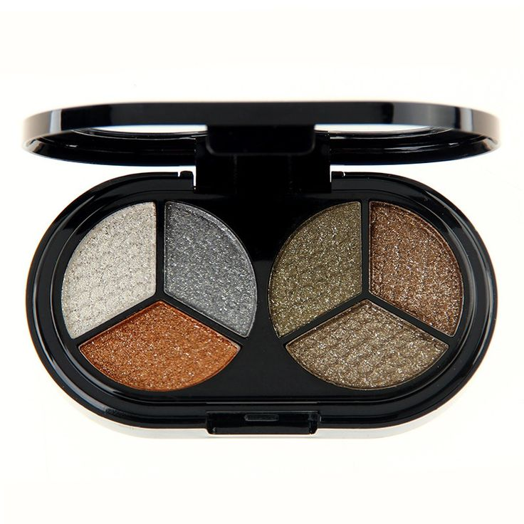 6 Colors Glitter Shimmer Eye Shadow Palette Eyeshadow