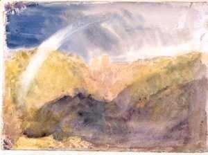 Crichton Castle Mountainous Landscape with a Rainbow c.1818  Joseph Mallord William Turner