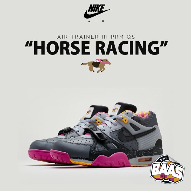 "Nike Air Trainer III Prm QS ""Horse Racing"" | Nu online! | www.sneakerbaas.nl | #SNEAKERBAAS #BAAS #HORSE #RACING  | 682933-001"