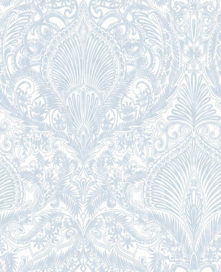 Burlesque Duck Egg Wallpaper, , large