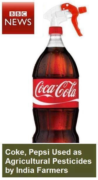 Coke and Pepsi used as agricultural pesticides by India farmers