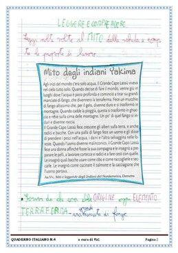 I quadernoni di italiano di classe III della maestra Patrizia