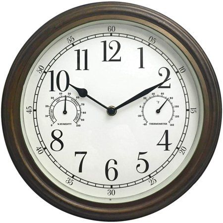 33027 12 Inch Indoor Outdoor Wall Clock Outdoor Wall Clocks Outdoor Clock Clock