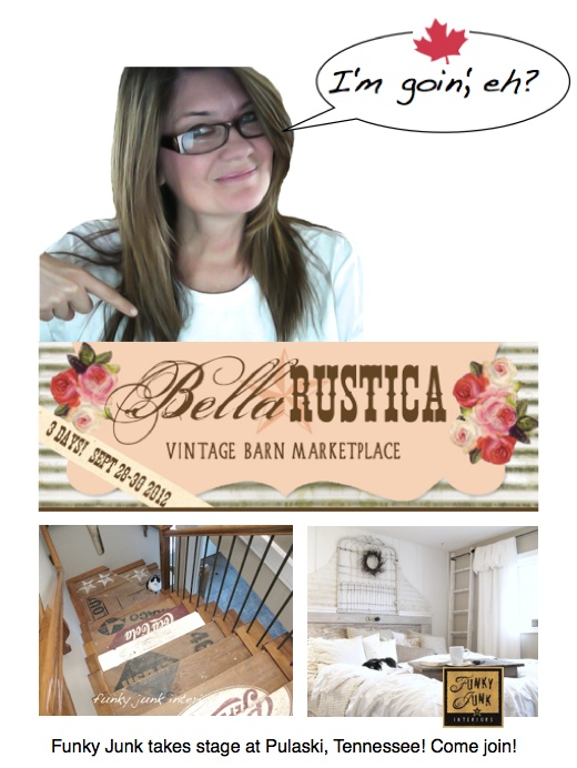 Wanna meet the famous @Donna - Funky Junk Interiors!? I do!! Join her - Bella Rustica Vintage Barn Marketplace?! Yes please! A junk event raising money for a good cause.