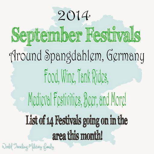 September Festivals Around Spangdahlem, Germany - World Traveling Military Family