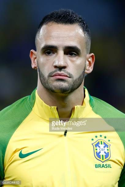 Renato Augusto of Brazil looks on before a match between Brazil and Paraguay as part of 2018 FIFA World Cup Russia Qualifier at Arena Corinthians on...