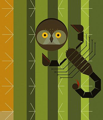 Charley Harper Own and Scorpion