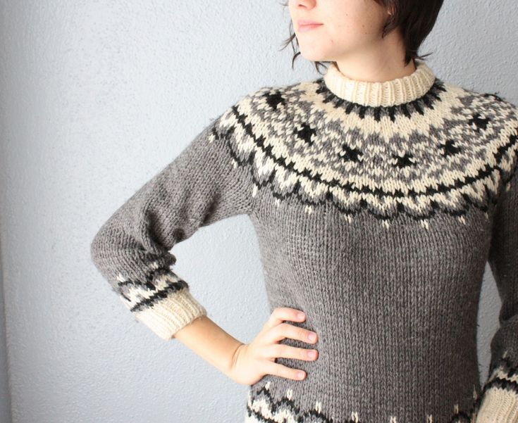 vintage nordic sweater via Etsy.