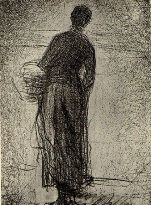 Woman with Basket, Georges Seurat