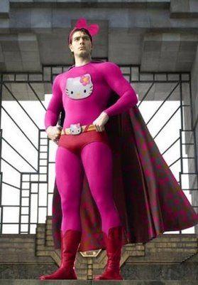 εїзCostumes, Superman, Funny, Pink, Hellokitty, Super Heroes, Hello Kitty, Halloween, Superhero