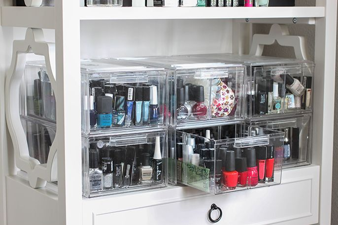 1000 ideas about nail polish storage on pinterest nail polish shelves organize nail polish - Scatole ikea trasparenti ...