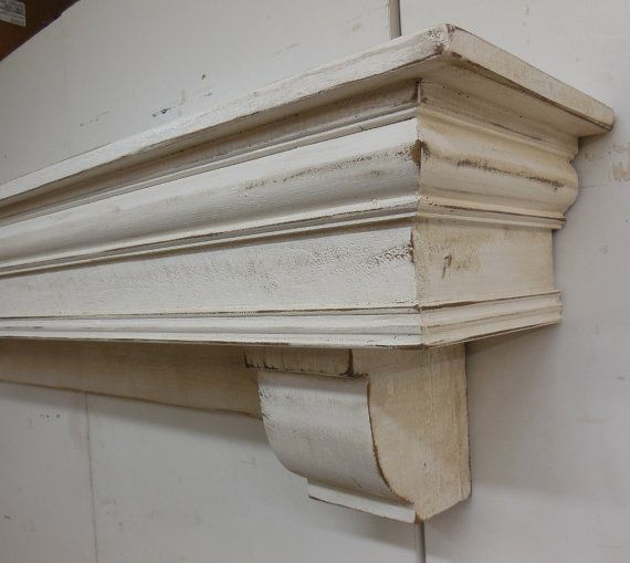 French Country Mantle with corbels Fireplace by LynxCreekDesigns                                                                                                                                                     More