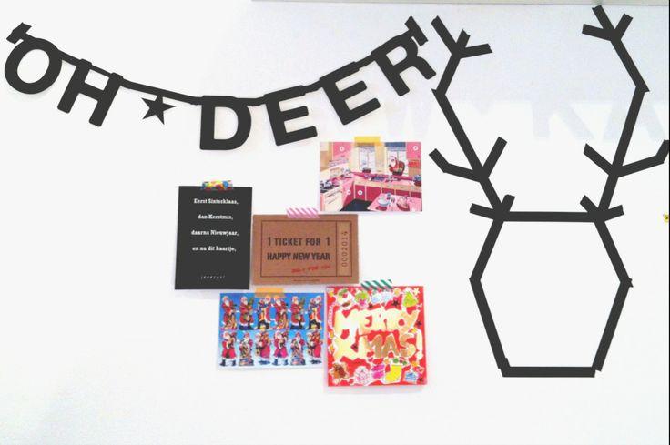 Super simpele kerstmis versiering met Masking tape en de DIY word banner!