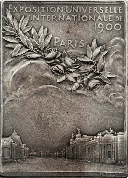1900 Paris Summer Olympics Judge's Plaque. Part of the Harmer Johnson Olympic Collection sale, Heritage Auctions, Nov. 17-19. Estimated hammer price: $300+.