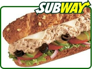Subway Classic Tuna (Copycat Recipe)  You will need: 24 ounces chunk light tuna in water, drained   1/3 cup mayonnaise  2 teaspoons lemon juice  1/4 teaspoon salt    1. Combine all ingredients in a small bowl. Stir vigorously to break chunks of tuna. Chill until cold.   2. Use an ice cream scoop to serve two scoops of tuna on each 6-inch sub roll.  Makes enough tuna for three 6-inch sandwiches.