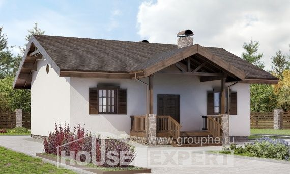090-002-П Проект одноэтажного дома, бюджетный домик из кирпича