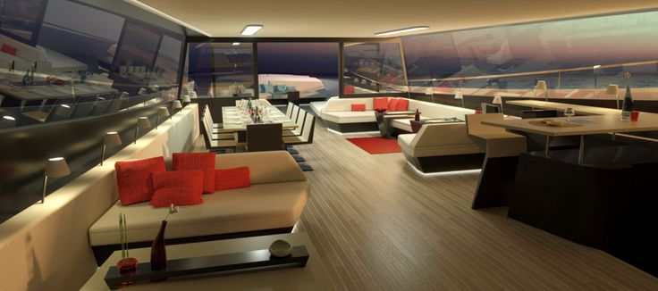 A new breed of power trimaran combines luxury with fuel economy.