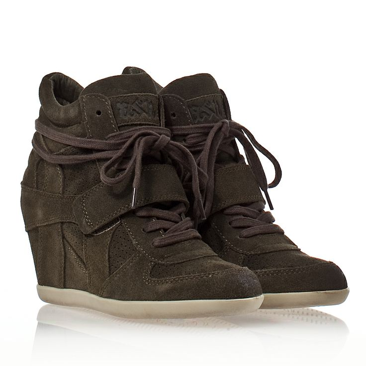 Ash Bowie Womens Wedge Sneaker Military Suede 330311 (351)
