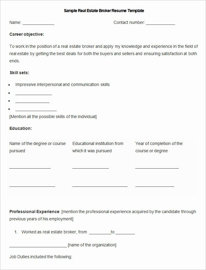 Real Estate Resume Example Best Of Sales Resume Template 41 Free