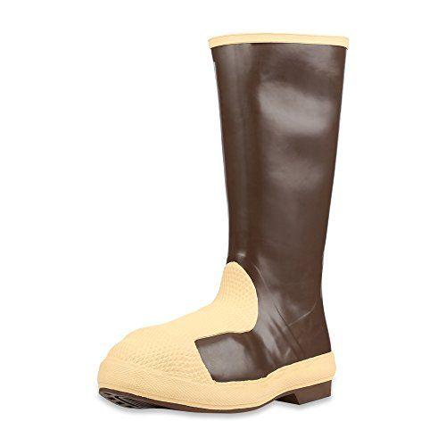 """Servus 15"""" Neoprene Duraguard Steel Toe Men's Work Boots with Metatarsal Guard, Copper"""