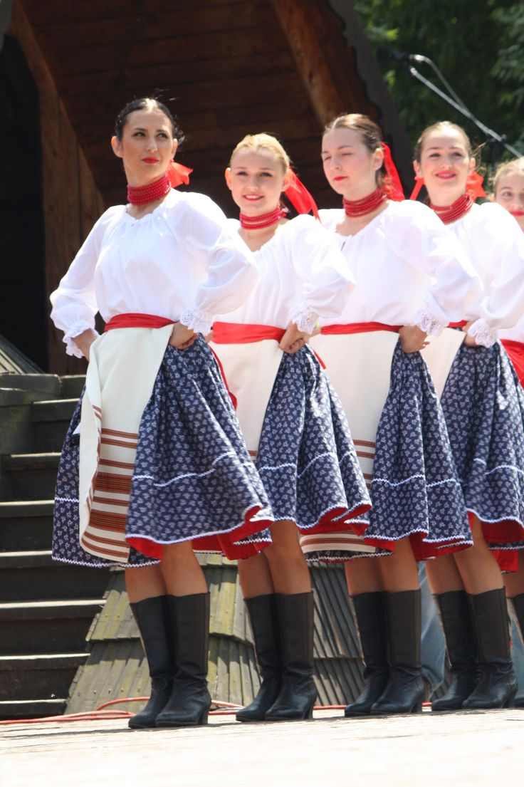 Stylizated folk costumes from region Horehronie, Central Slovakia.