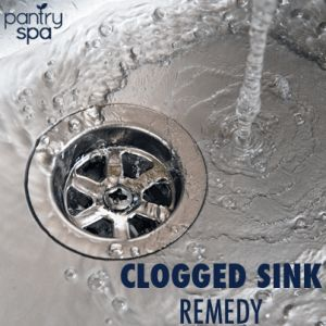 Unclog Drain Remedy Ingredients:   1 Cup Baking Soda   1 Cup White Vinegar