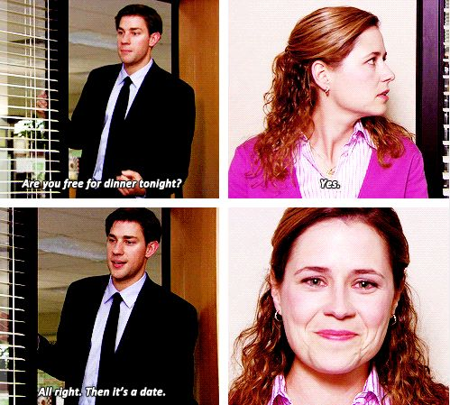 The office jim and pam start dating