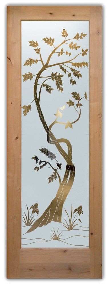 Etched Glass Front Doors Asian Style, Sapling – Get privacy and etched glass you Customize and Buy Online! Available slab, pre-hung, glass insert!