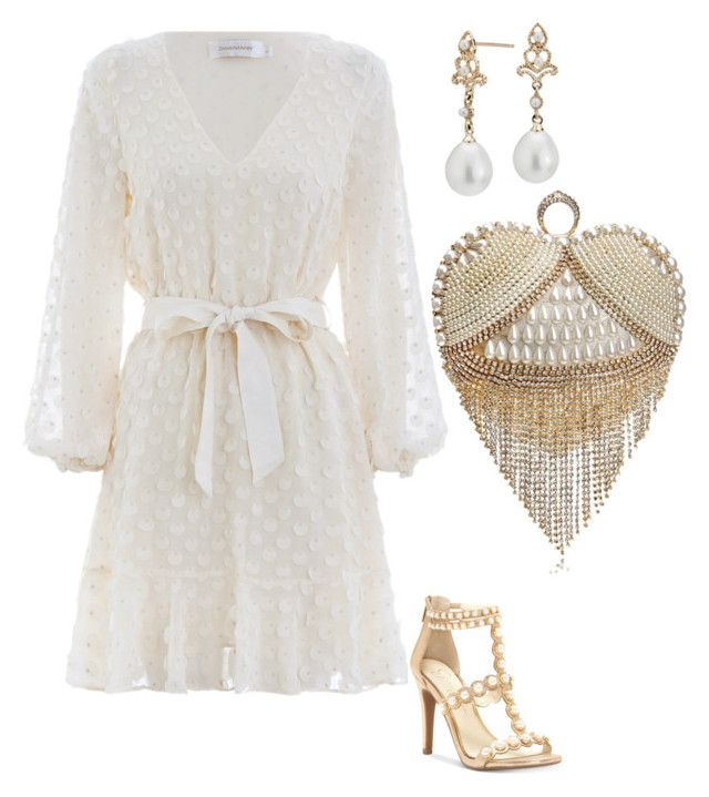 """Untitled #620"" by mchlap on Polyvore featuring Zimmermann, Jessica Simpson and Blue Nile"