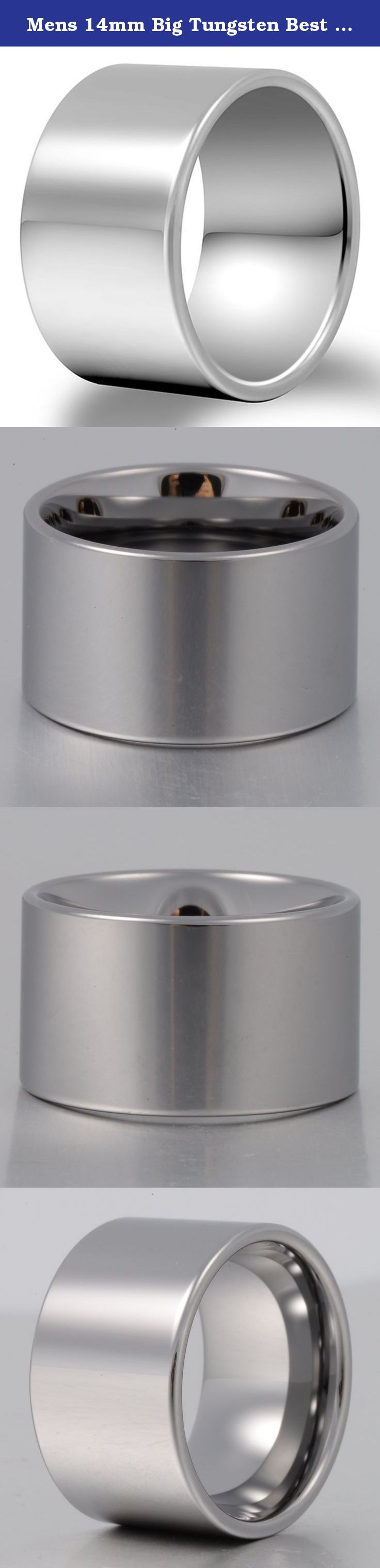 Mens 14mm Big Tungsten Best Metal Ring Classic Wedding Engagement Band High Polished Flat Top Comfort Fit Size 9.5. As a heavy metal, tungsten carbide is a very hard and dense with hardness between 8.5 and 9.5 on the hardness scale (Diamonds come to a 10). Its density allows tungsten to be used in jewelry as an alternative to gold or platinum. Tungsten carbide is about 10 times harder than 18k Gold, 4 times harder than titanium stainless steel, and it never fade, deform and always keep...