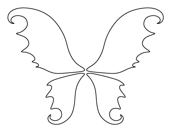 Fairy wings pattern. Use the printable outline for crafts ...