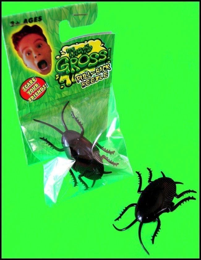 NEW Bulk Lot 20 Creepy Pull Back Beetle Cockroaches Kids Party Favor Novelty Toy