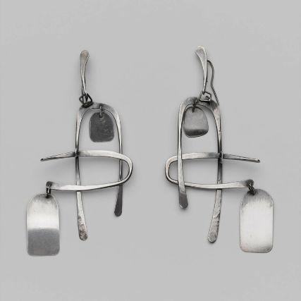 Earrings | Art Smith, c. 1950. Silver