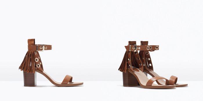 ZARA Nueva Colección de Zapatos Primavera Verano 2015 #sandalias #flecos